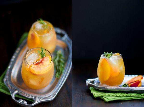 Rosemary Peach Maple Leaf Cocktail | Drink it | Pinterest