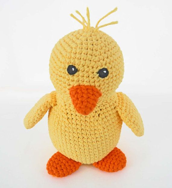 Crochet Amigurumi Duck Patterns : Crochet Toy Pattern: Amigurumi Duck, Crochet Baby Chick ...
