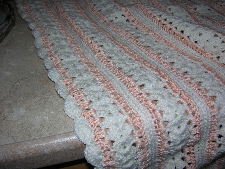 Mile a Minute Peach Afghan Crochet: Afghans: Mile A Minute Pint?