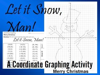 Coordinate graphing activity let it snow man