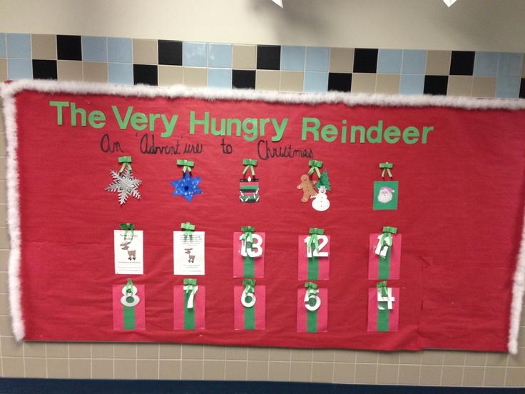 Advent Calendar Bulletin Board : Holiday bulletin board advent calendar to love your