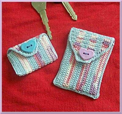 crochet - business card holders on Pinterest | 94 Pins
