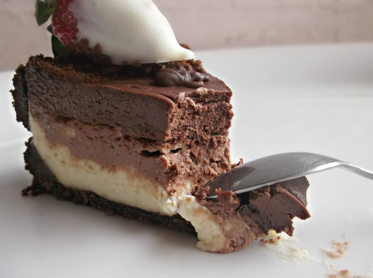 Triple Layer Chocolate Cheesecake | Cheesecake | Pinterest