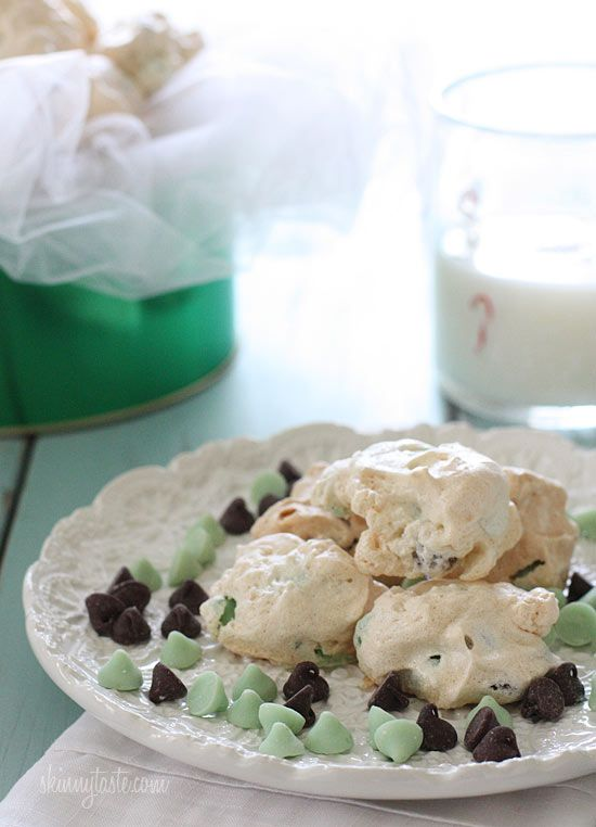 Dark Chocolate and Mint Chip Clouds | Recipe