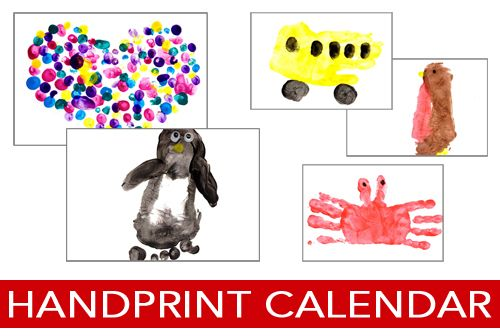 DIY - Hand Print Calendar for your home or as a gift.