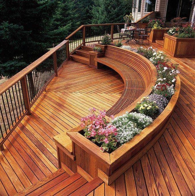 Built In Planter Ideas: Gorgeous Built In Seating And Planters