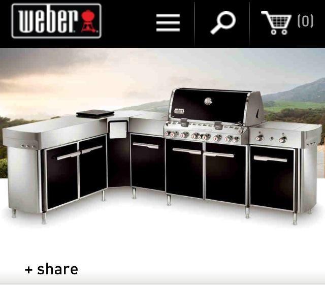 Weber Outdoor Dream Kitchen Entertain Me Pinterest