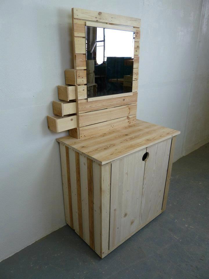 C moda de pallets muebles hechos con palets pinterest for Muebles hechos de palets