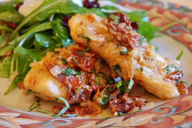 Chicken with Sun-Dried Tomato Sauce
