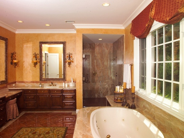 Pin by mary maiers on bathrooms pinterest for Warm bathroom colors