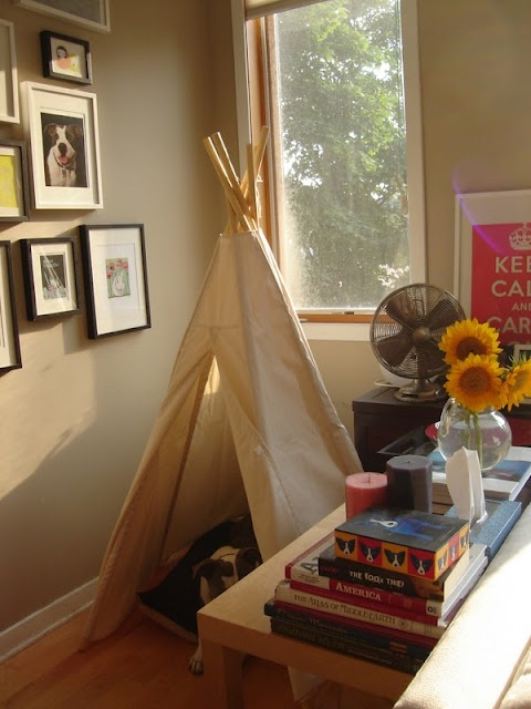 Dog in a teepee | Dream House | Pinterest