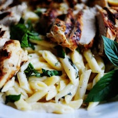 Grilled Chicken with Lemon Basil Pasta | Om nom nom | Pinterest