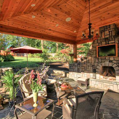 Tv cabinet outdoor patio backyard design pinterest