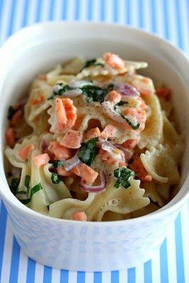 Smoked Salmon Seashell Pasta Salad - uses 6 oz. smoked salmon or can ...