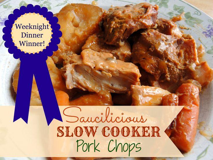Slow Cooker Pork Chops | Hubs got me a Slow Cooker! | Pinterest