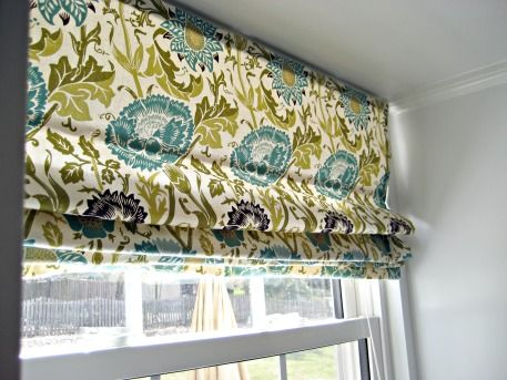 No Sew Roman Shade from Mini-blinds