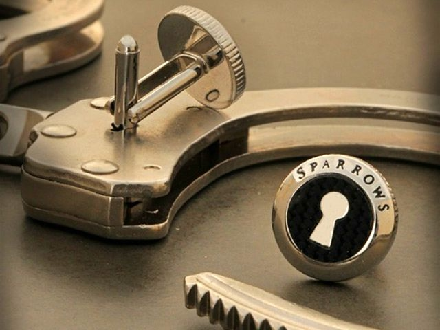 cufflinks with handcuff key are designed to hold your french cuffs