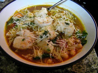 Tuscan Bean Soup with Shrimp | From the blog | Pinterest