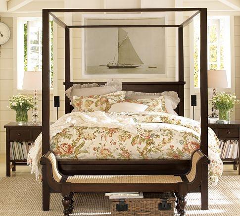 Best Farmhouse Canopy Bed Pottery Barn Master Bedroom 400 x 300