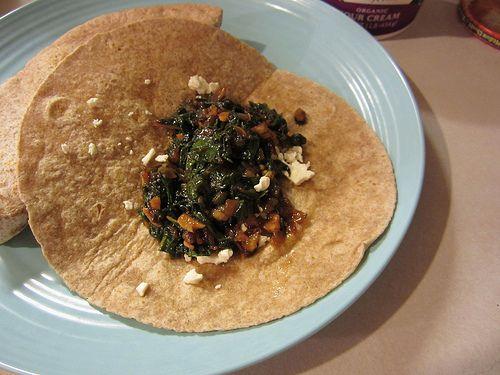 Sweet Potato And Black Bean Tacos With Swiss Chard Pesto Recipes ...