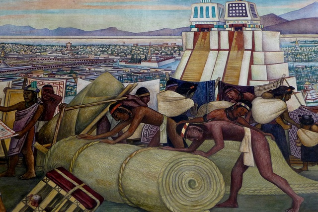 Pin by maestra de espa ol on diego rivera pinterest for Diego rivera tenochtitlan mural