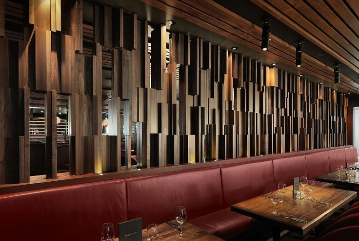 Restaurant Wall Design Images : Restaurant wood wall panel design int?rieurs