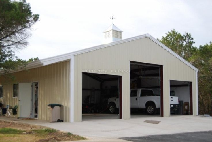 Prefabricated steel garages from mbmi house ideas for Metal building ideas