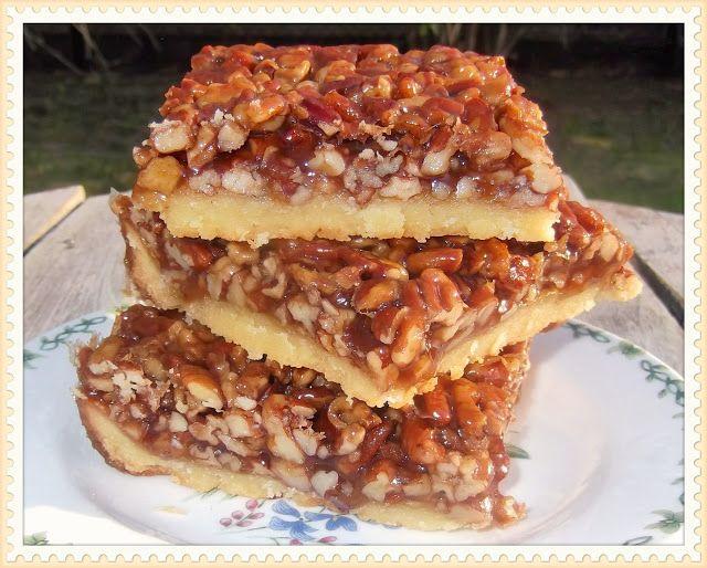 Southern Pecan Pie Bars | Southern Desserts | Pinterest