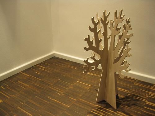 Plywood tree window displays pinterest for Plywood christmas tree