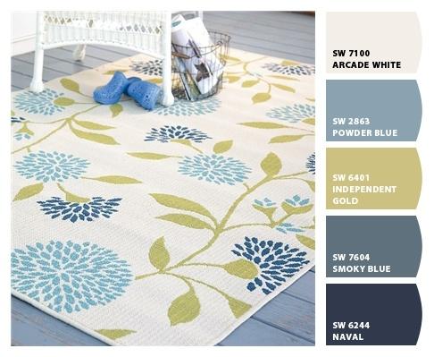 chip it~ floral rug