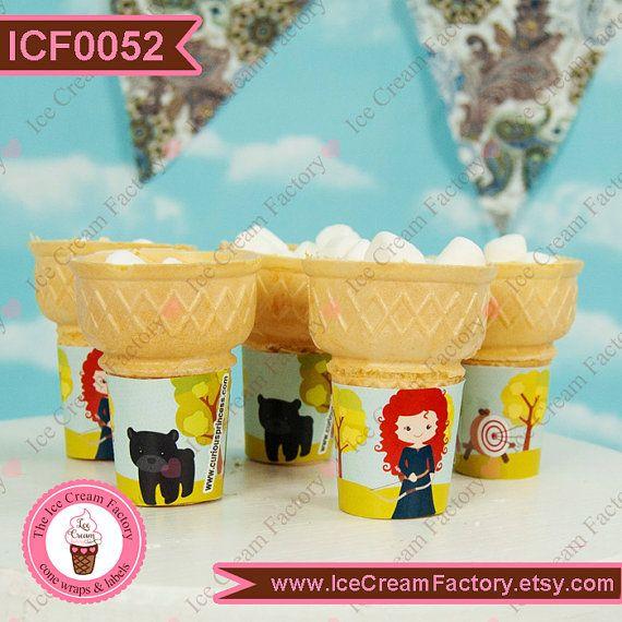 Brave Princess Merida ice cream cone wraps party favors 1 ...