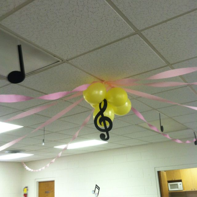 Musical themed baby shower