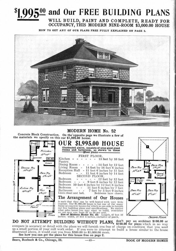 A Typical 1900s Prefab Home By Sears The 1900 39 S Pinterest