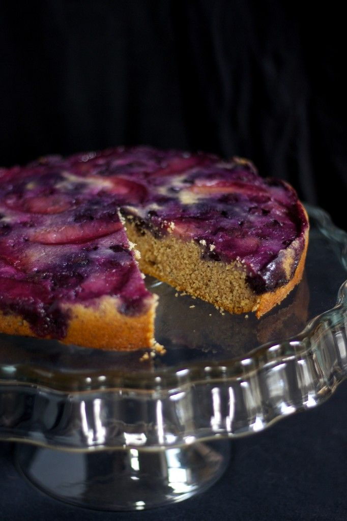 Blueberry Plum Upside Down Cake in The Healthy Helping -- I know for ...