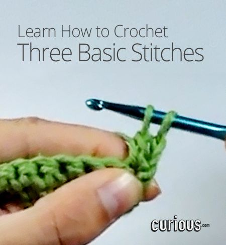 How To Learn Different Knitting Stitches : How to Crochet Three Basic Stitches crotchet tutorial Pinterest