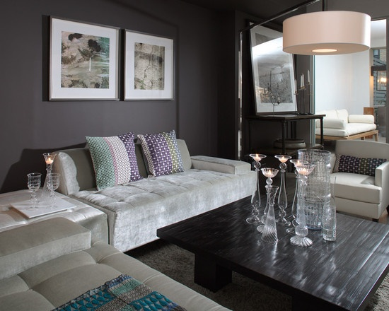 Jeff lewis design love the dark walls mobile homes for Jeff lewis living room designs