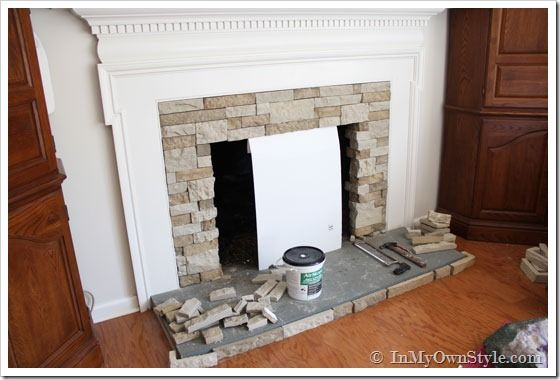 DIY Fireplace Makeover On A Budget Using AirStone