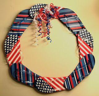 fourth of july flip flop wreath