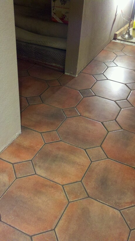 octagon tile floor dream decor pinterest. Black Bedroom Furniture Sets. Home Design Ideas