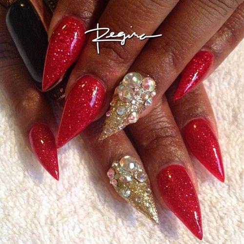 Red Stiletto Nails Designs Softland