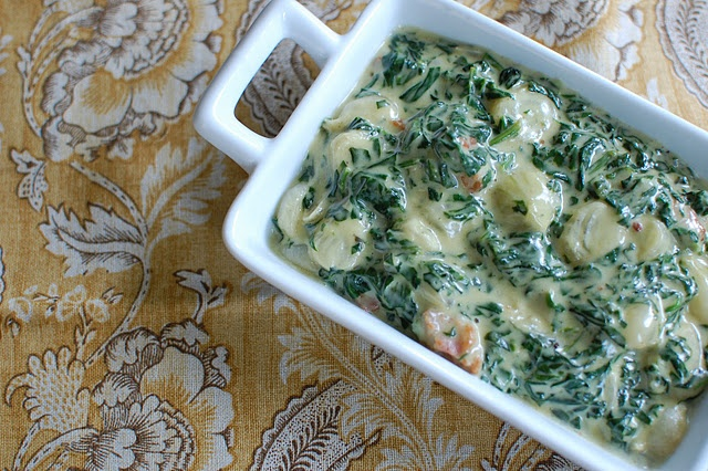 Creamed spinach with bacon and onions | Spinach | Pinterest