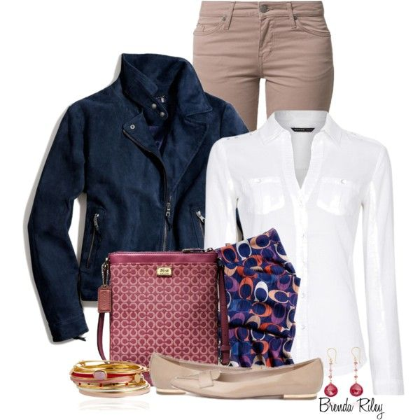 """Coach Blue Suede Jacket"" by brendariley-1 on Polyvore"