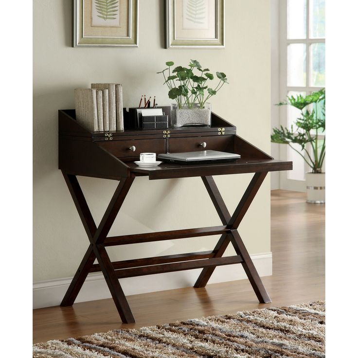 furniture of america dennilia espresso home office secretary desk c