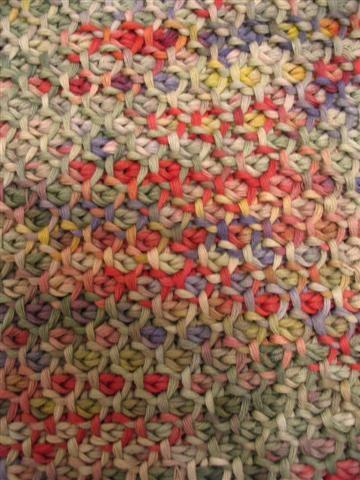 honeycomb Tunisian crochet stitch- no pattern