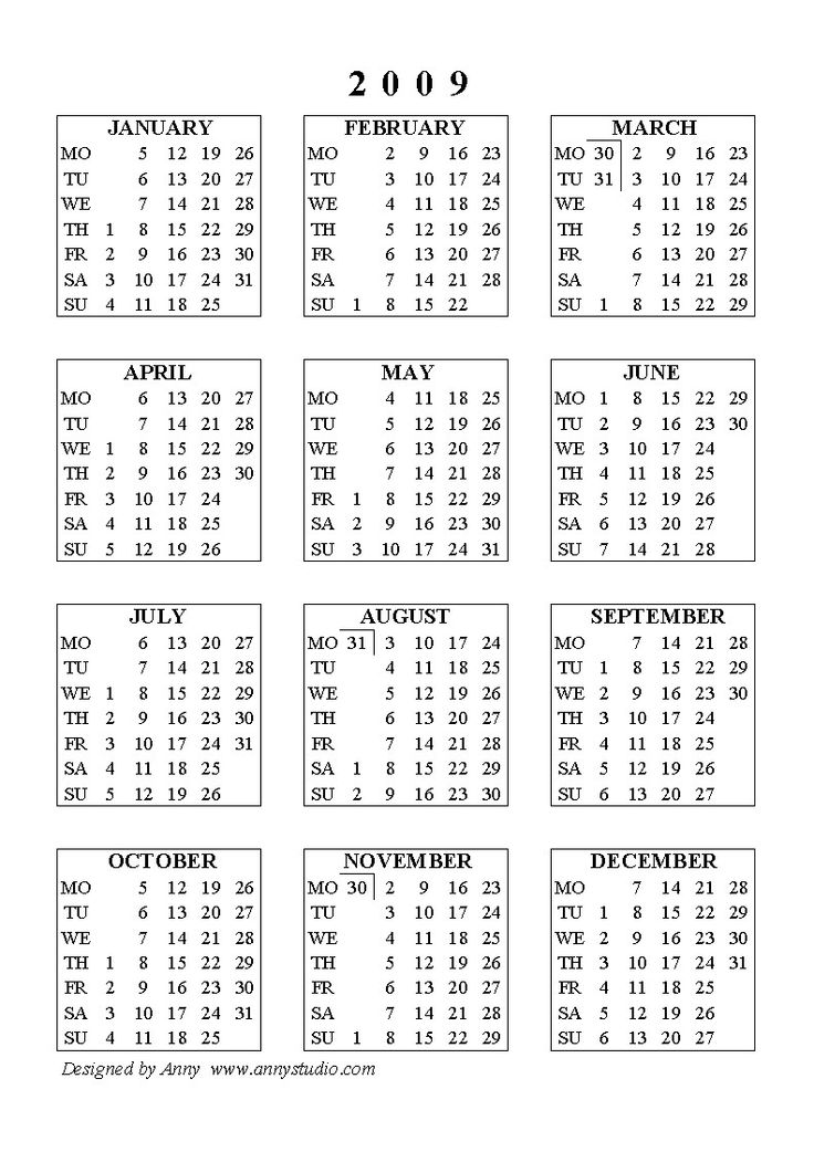 May Calendar 2009 With Holidays