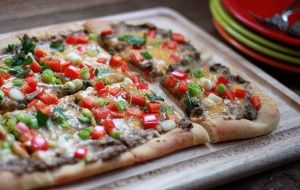 Mexican Black Bean Pizza | Yummy Foods | Pinterest