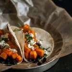Spiced Black Bean, Grilled Avocado, and Goat Cheese Tacos | Recipe
