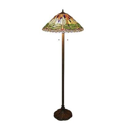 dragonfly tiffany floor lamp green lamps lights pinterest. Black Bedroom Furniture Sets. Home Design Ideas
