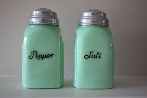Jadeite Jadite Roman Arch Art Deco Salt Pepper Shakers Near Mint Condition | eBay