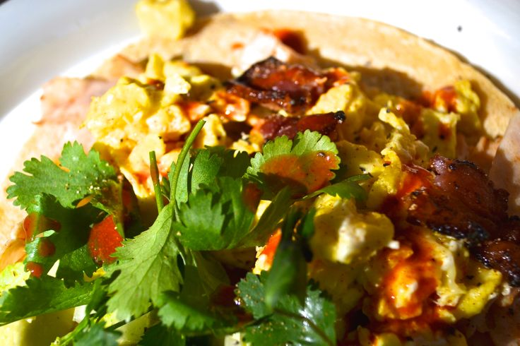 Bacon Breakfast Tacos -- Camping Palomar Mountain Style: 4 strips of ...